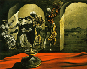 Disappearing Bust of Voltaire by Salvador Dali 1941