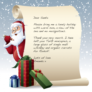 image of a letter to Santa