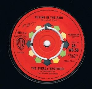 http://www.planetearthrecords.co.uk/the-everly-brothers-crying-in-the-rain-7-single-vinyl-record-45rpm-warner-bros-1961-1101-p.asp